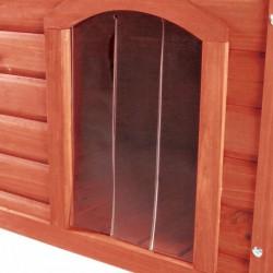 Porta in plastica natura per casette a tetto piatto