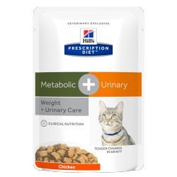 HILL'S feline diet METABOLIC+URINARY busta 85 gr.