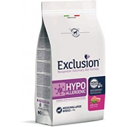 EXCLUSION Hypoallergenic adult medium &large breed  pork e pea